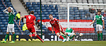 Johnny Hayes celebrates hias winning goal for Aberdeen
