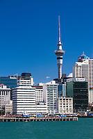 Auckland Sky Tower and City Skyline, New Zealand North Island