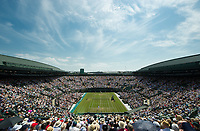 A general view of Court 1, during the Djokovic Pavlasek Second Round Match<br /> <br /> Photographer Ashley Western/CameraSport<br /> <br /> Wimbledon Lawn Tennis Championships - Day 4 - Thursday 6th July 2017 -  All England Lawn Tennis and Croquet Club - Wimbledon - London - England<br /> <br /> World Copyright &not;&copy; 2017 CameraSport. All rights reserved. 43 Linden Ave. Countesthorpe. Leicester. England. LE8 5PG - Tel: +44 (0) 116 277 4147 - admin@camerasport.com - www.camerasport.com