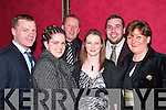 ENJOYING: Tommy, Linda and Paudie Mulvihill, Amanda O'Sullivan, PJ Normile and Catherine O'Connell all enjoying the Moyvane GAA social in Kirby's Lanterns Hotel, Tarbert, on Friday night.   Copyright Kerry's Eye 2008