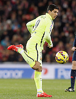 FC Barcelona's Luis Suarez during La Liga match.February 8,2015. (ALTERPHOTOS/Acero) /NORTEphoto.com
