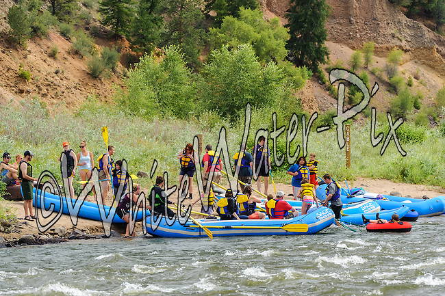 Sage Outdoor Adventures crashing Cable Rapid while floating the Upper Colorado River from Rancho Del Rio to State Bridge on the afternoon of August 10, 2014.