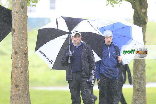 Paul McGinley (IRL) not impressed with his drive on the 17th hole during Thursday's Round 1 of the 2016 Dubai Duty Free Irish Open hosted by Rory Foundation held at the K Club, Straffan, Co.Kildare, Ireland. 19th May 2016.<br /> Picture: Eoin Clarke | Golffile<br /> <br /> <br /> All photos usage must carry mandatory copyright credit (&copy; Golffile | Eoin Clarke)