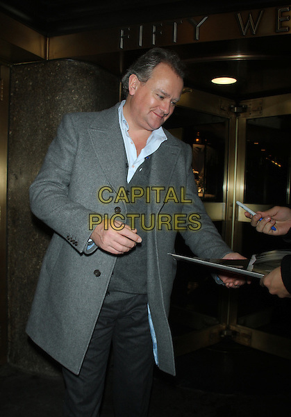 December 10, 2014: Hugh Bonneville at New York Live  to talk about  new season of Downton Abbey  in New York.  <br /> CAP/MPI/RW<br /> &copy;RW/ MediaPunch/Capital Pictures