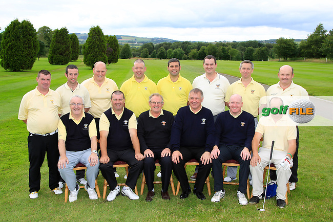 The Newcastle West Team  during the Final round of the Munster Bruen &amp; Purcell Shield Finals at East Clare Golf Club on Sunday 19th July 2015.<br />