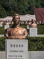 Friedhof der Märtyrer der Revolution. Pyongyang, Nordkorea, Asien<br /> cemetery of martyrs, Pyongyang, North Korea, Asia