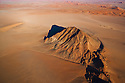 Namibia, Namib Desert, Skeleton Coast, aerial view of Inselberge at eastern edge of Namib Desert