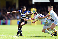 Semesa Rokoduguni of Bath Rugby takes on the Saracens defence. Aviva Premiership match, between Bath Rugby and Saracens on September 9, 2017 at the Recreation Ground in Bath, England. Photo by: Patrick Khachfe / Onside Images