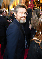 Willem Dafoe arrives at the Oscars on Sunday, March 4, 2018, at the Dolby Theatre in Los Angeles. (Photo by Charles Sykes/Invision/AP)