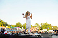 BRIGHTON, ENGLAND - AUGUST 4: Ella Eyre performing at Brighton and Hove Pride, Preston Park on August 4, 2018 in London, England.<br /> CAP/MAR<br /> &copy;MAR/Capital Pictures