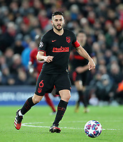 11th March 2020; Anfield, Liverpool, Merseyside, England; UEFA Champions League, Liverpool versus Atletico Madrid; Koke of Atletico Madrid receives the ball