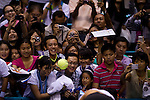 BANGKOK, THAILAND - OCTOBER 01:  Rafael Nadal's supporters wait for Nadal's autographs after the match against Mikhail Kukushkin of Kazakhstan during the Day 7 of the PTT Thailand Open at Impact Arena on October 1, 2010 in Bangkok, Thailand.  Photo by Victor Fraile / The Power of Sport Images