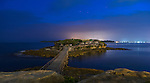 Bare Island at night, La Perouse, Sydney, NSW, Australia