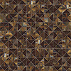 Christopher G2, a waterjet jewel glass mosaic, shown in Tortoise Shell, is part of the Illusions™ Collection by Sara Baldwin for New Ravenna.