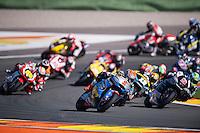 VALENCIA, SPAIN - NOVEMBER 8: Tito Rabat, Alex Rins, Johann Zarco, Thomas Luthi, Julian Simon during Valencia MotoGP 2015 at Ricardo Tormo Circuit on November 8, 2015 in Valencia, Spain