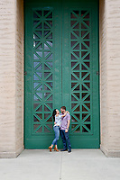 Danielle & Andrew's Engagement session along The Embarcadero at Pier 7 and The Palace of Fine Arts in San Francisco.