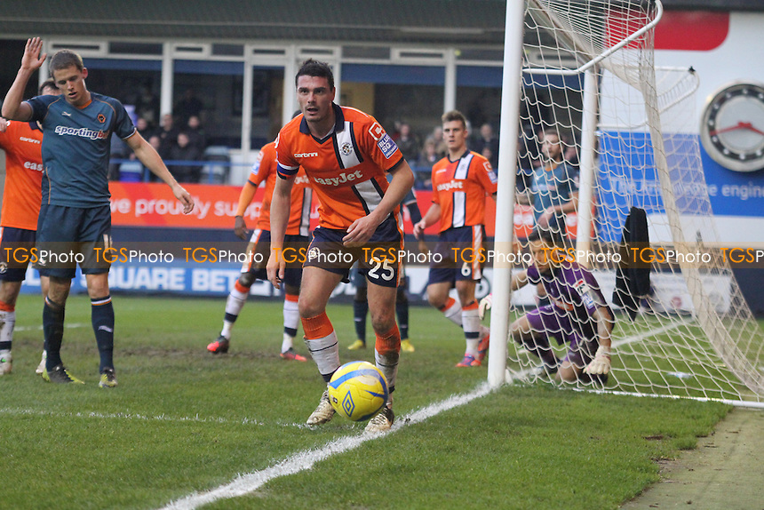 Ronnie Henry (Luton Town) cant stop a corner.- Luton Town vs Wolverhampton Wanderers - FA Challenge Cup 3rd Round Football at Kenilworth Road - 05/01/13 - MANDATORY CREDIT: Mick Kearns/TGSPHOTO - Self billing applies where appropriate - 0845 094 6026 - contact@tgsphoto.co.uk - NO UNPAID USE.