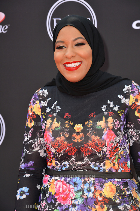 Ibtihaj Muhammad at the 2018 ESPY Awards at the Microsoft Theatre LA Live, Los Angeles, USA 18 July 2018<br /> Picture: Paul Smith/Featureflash/SilverHub 0208 004 5359 sales@silverhubmedia.com