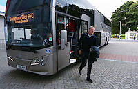 Swansea City manager Garry Monk arrives for the Capital One Cup match between Hull City and Swansea City played at the Kingston Communications Stadium, Hull