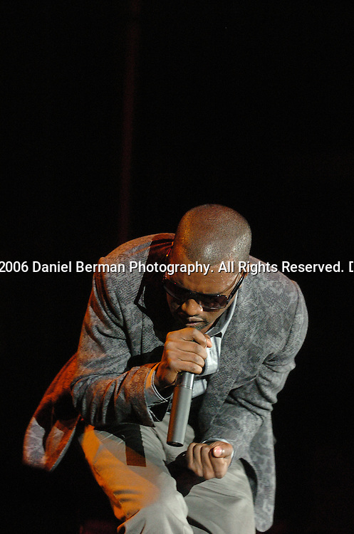 Kanye West performs at the Bumbershoot music festival in Seattle, WA September 3, 2006.