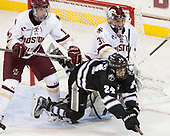 Colin White (BC - 18), Bryan Lemos (PC - 24), Joe Woll (BC - 31) - The Boston College Eagles defeated the visiting Providence College Friars 3-1 on Friday, October 28, 2016, at Kelley Rink in Conte Forum in Chestnut Hill, Massachusetts.The Boston College Eagles defeated the visiting Providence College Friars 3-1 on Friday, October 28, 2016, at Kelley Rink in Conte Forum in Chestnut Hill, Massachusetts.