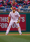 7 April 2016: Washington Nationals infielder Anthony Rendon in action against the Miami Marlins during the Nationals' Home Opening Game at Nationals Park in Washington, DC. The Marlins defeated the Nationals 6-4 in their first meeting of the 2016 MLB season. Mandatory Credit: Ed Wolfstein Photo *** RAW (NEF) Image File Available ***