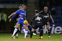 Tom Eaves of Gillingham tries to control the ball under pressure from three Bury players during Gillingham vs Bury, Sky Bet EFL League 1 Football at the MEMS Priestfield Stadium on 11th November 2017