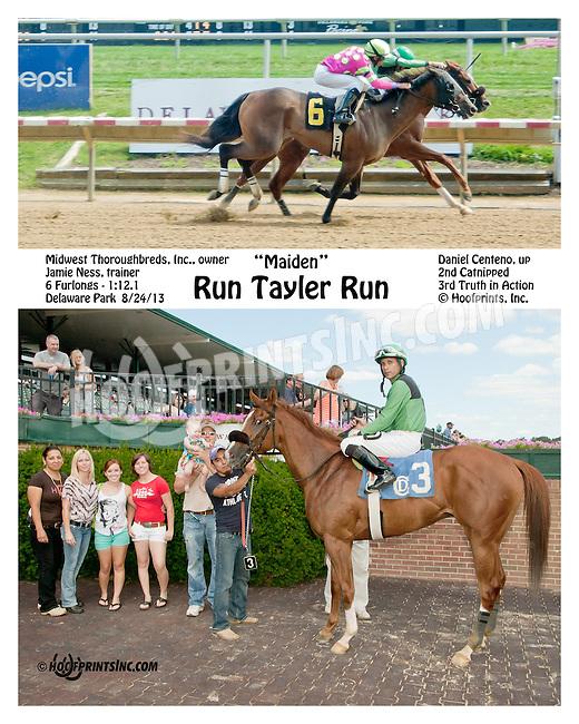 Run Tayler Run winning at Delaware Park on 8/24/2013