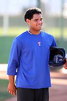 Tomas Telis - AZL Rangers - 2010 Arizona League. Photo by:  Bill Mitchell/Four Seam Images..