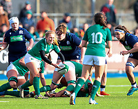 2nd February 2020; Energia Park, Dublin, Leinster, Ireland; International Womens Rugby, Six Nations, Ireland versus Scotland; Kathryn Dane (Ireland) releases the ball from the ruck