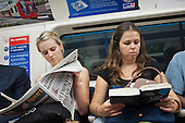 Travellers on the London underground during the 2012 Olympic Games.