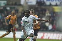 Pictured: Jason Scotland of Swansea City<br /> <br /> Re: Coca Cola Championship, Swansea City Football Club v  Wolverhampton Wanderers at the Liberty Stadium, Swansea, south Wales 2008.