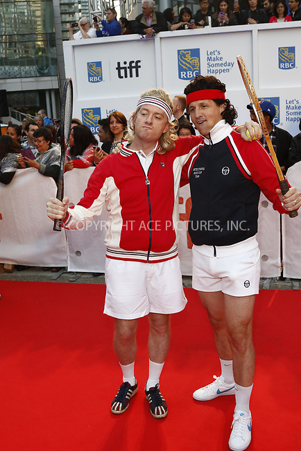 www.acepixs.com<br /> <br /> September 7 2017, Toronto<br /> <br /> Tim League (l) and Tom Quinn attending the premiere of 'Borg/McEnroe' during the 42nd Toronto International Film Festival at the Roy Thomson Hall on September 7 2017 in Toronto, Canada<br /> <br /> By Line: Famous/ACE Pictures<br /> <br /> <br /> ACE Pictures Inc<br /> Tel: 6467670430<br /> Email: info@acepixs.com<br /> www.acepixs.com
