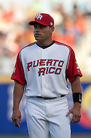 9 March 2009: #7 Ivan Rodriguez of Puerto Rico is seen prior to the 2009 World Baseball Classic Pool D game 4 at Hiram Bithorn Stadium in San Juan, Puerto Rico. Puerto Rico wins 3-1 over Netherlands