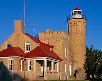 Cheboygan County, MI<br /> Old Mackinac Point Light (1898) on the Straits of Mackinac between lakes Michigan and Huron