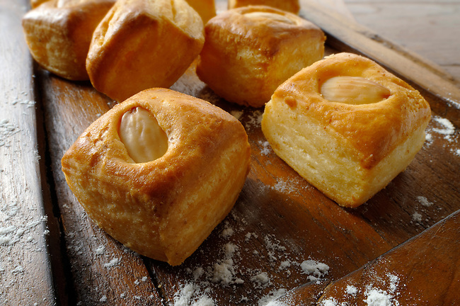 Ewes cheese and almond pastry