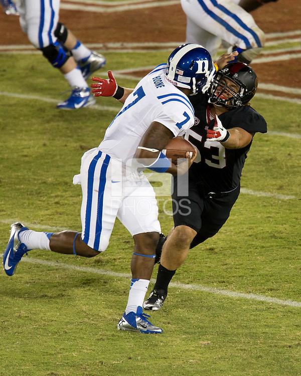 STANFORD, CA - September 8, 2012: Stanford vs Duke.  Stanford won 50 - 13.