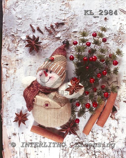 Interlitho, CHRISTMAS ANIMALS, photos+++++,snowman,red berries,KL2984,#xa#