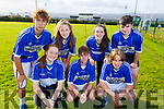 Castleisland Community College tag rugby team at the KETB Schools Senior Cycle Tag Rugby blitz in the Kerry Sports and Leisure Centre, Tralee on Monday.Front l-r, Joy Kaisar, Kian Murphy and Charlie Cooke.<br /> Back l-r, Valentino Lembo, Janine O&rsquo;Sullivan, Melissa Sweeney and Jason Brosnan.