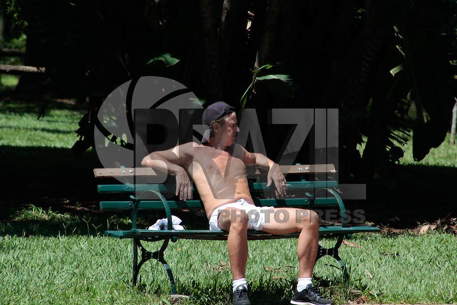 SÃO PAULO, SP. 03.02.2015 -  CLIMA TEMPO, MOVIMENTAÇÃO IBIRAPUERA - Paulistanos aproveitam o calor no parque do Ibirapuera na tarde desta terça-feira, (03). (Foto: Renato Mendes / Brazil Photo Press)