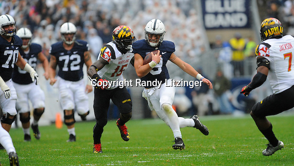 08 October 2016:  The Penn State Nittany Lions defeated the Maryland Terrapins 38-14 at Beaver Stadium in State College, PA. (Photo by Randy Litzinger/Icon Sportswire)