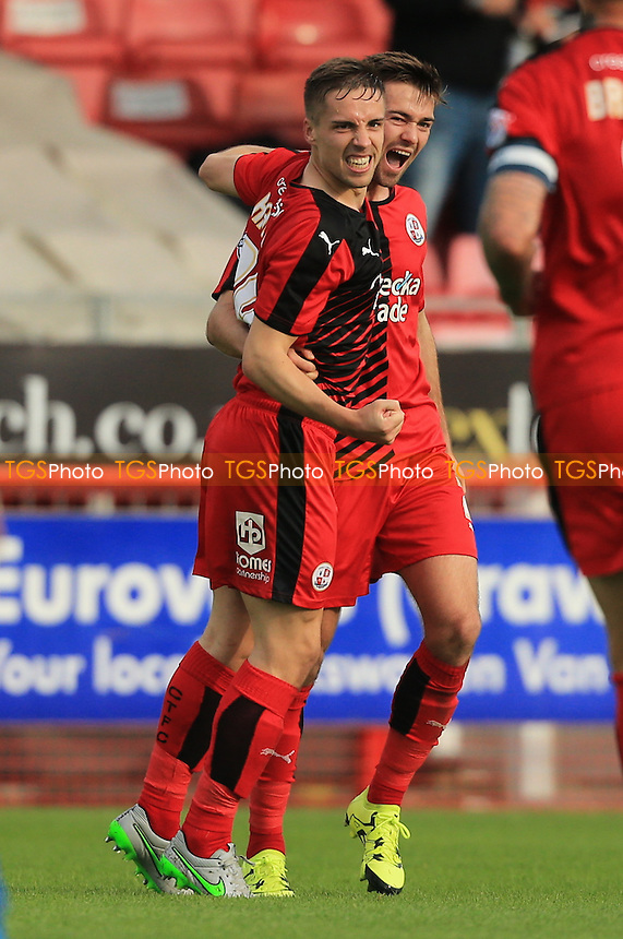 Mitch Hancox of Crawley Town celebrates giving Crawley Town the lead in the first half during Crawley Town vs Leyton Orient, Sky Bet League 2 Football at Broadfield Stadium, Crawley, England on 10/10/2015