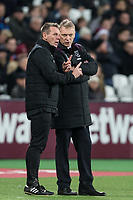 West Ham Coach Stuart Pearce & West Ham United Manager David Moyes during the Premier League match between West Ham United and Arsenal at the Olympic Park, London, England on 13 December 2017. Photo by Andy Rowland.