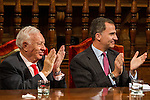 Spanish king, Felipe VI, spanish external subjects minister, José Manuel García-Margallo during the Quevedos iberoamerican award of grafic humor 2014. May 26,2016. (ALTERPHOTOS/Rodrigo Jimenez)