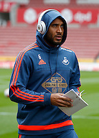 Swansea City's Ashley Williams during the Barclays Premier League match between Stoke City and Swansea City played at Britannia Stadium, Stoke on April 2nd 2016
