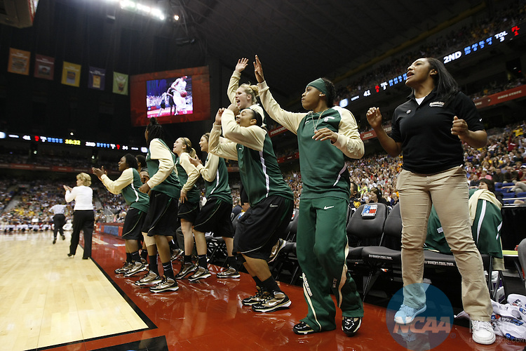 04 APR 2010:  The University of Connecticut takes on Baylor University during the Division I Women's Basketball Semifinals held at the Alamodome during the 2010 Women's Final Four in San Antonio, TX.  Jamie Schwaberow/NCAA Photos