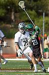 La Canada Flintridge, CA 03/16/13 - Kyle Rodney (De La Salle #29) and Kyle Anderson (Coronado #19) in action during the De La Salle vs Coronado lacrosse game at St Francis High School.  De La Salle defeated Coronado 8-5.