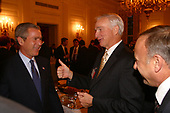 United States President George W. Bush meets with the newly elected congressmen at the White House in Washington, DC, Tuesday afternoon, November 12, 2002, including Max Burns, (Republican of Georgia) center, and Steve King, (Republican of Iowa).<br /> Mandatory Credit: Paul Morse / White House via CNP