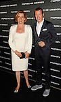 LOS ANGELES, CA - SEPTEMBER 04: Louise Kiesling and Juergen Gessler arrive at the Porsche Design 40th Anniversary Event at a private residence on September 4, 2012 in Los Angeles, California.