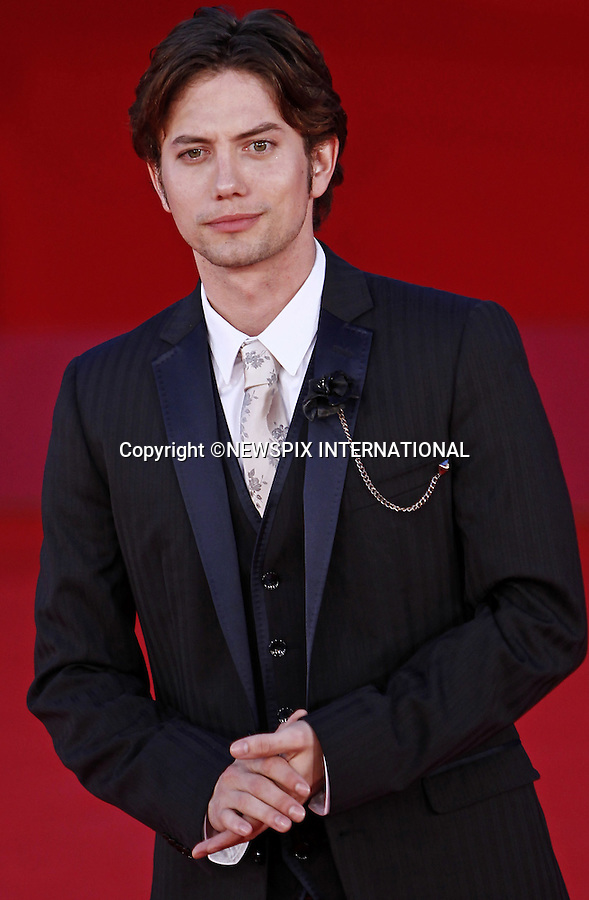 """JACKSON RATHBONE.attends the premiere of """"The Twilight Saga - Breaking Dawn Part 1"""" at the 6th Rome International Film Festival, Rome, Italy_30/10/2011.Mandatory Credit Photo: ©Matteo Ciambelli/NEWSPIX INTERNATIONAL..**ALL FEES PAYABLE TO: """"NEWSPIX INTERNATIONAL""""**..IMMEDIATE CONFIRMATION OF USAGE REQUIRED:.Newspix International, 31 Chinnery Hill, Bishop's Stortford, ENGLAND CM23 3PS.Tel:+441279 324672  ; Fax: +441279656877.Mobile:  07775681153.e-mail: info@newspixinternational.co.uk"""
